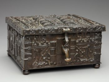 """F67.50-d1-2019-02-07_o2"" - Comparing Similar Bronze Chests To Forrest Fenns Bronze Treasure Chest Left. Digital Image. Detroit Institute of Arts. February 7, 2019. February 19, 2020. https://www.dia.org/sites/default/files/tms-collections-objects/F67.50-d1-2019-02-07_o2.jpg"