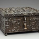 """F67.50-d1-2019-02-07_o2"" - Detroit Bronze Chest Fenns Treasure Look A Like Front Corner. Digital Image. Detroit Institute of Arts. February 7, 2019. February 19, 2020. https://www.dia.org/sites/default/files/tms-collections-objects/F67.50-d1-2019-02-07_o2.jpg"