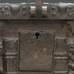 """F67.50-d8-2019-02-07_o2"" - Detroit Bronze Chest Fenns Treasure Look A Like Front Lock. Digital Image. Detroit Institute of Arts. February 7, 2019. February 19, 2020. https://www.dia.org/sites/default/files/tms-collections-objects/F67.50-d8-2019-02-07_o2.jpg"