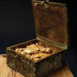 "Fenn, Forrest, ""Fenn's Treasure Chest with Open Lid"" by Addison Doty, ONE HORSE LAND & CATTLE CO."
