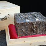 """""""73-10"""" - Vinnettis Bronze Replica of The Forrest Fenn Treasure Chest Front Corner. Digital Image. Vinnetti's. April 2019. February 19, 2020. http://www.vinnettis.com/wp-content/uploads/2019/04/73-10.jpg"""