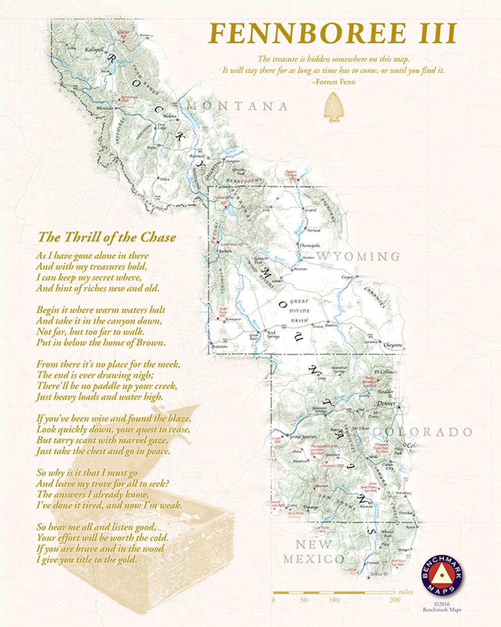 Forrest Fenn's Treasure Map Fennboree III By Benchmark Maps 2016