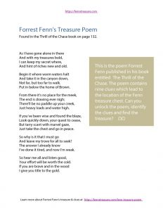 Forrest Fenn's Poem Download - Use It To Find The Treasure