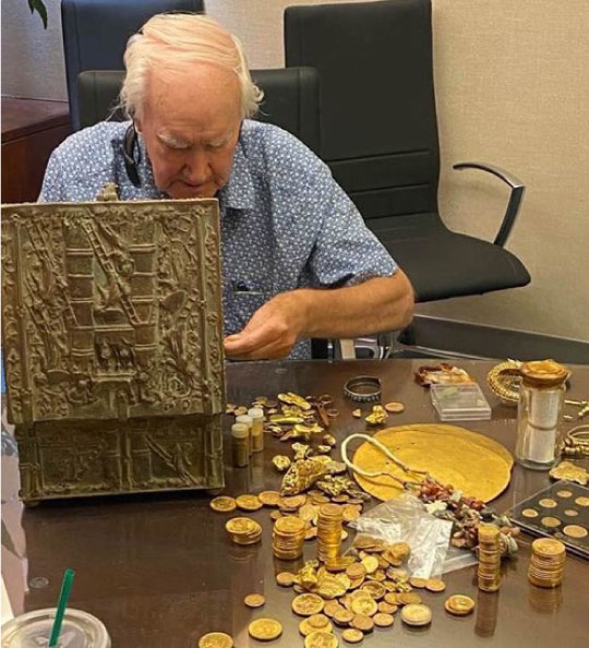 Forrest Fenn with The Found Bronze Treasure Chest